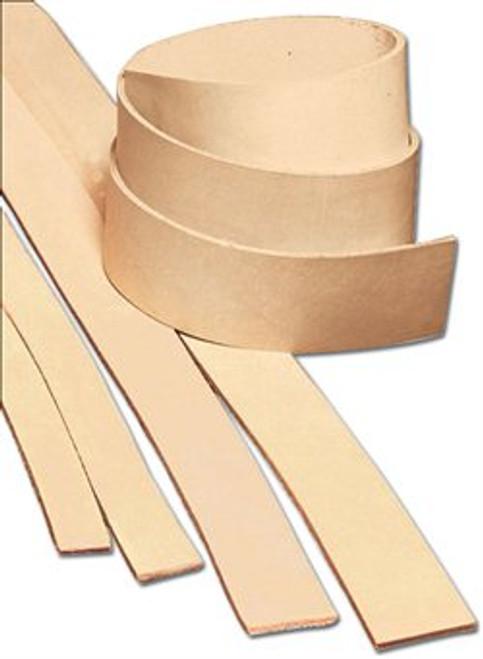 "Heavyweight Natural Cowhide Leather Strip 3/4"" (1.9 cm) x 72"" (1.8 m) 4524-00"
