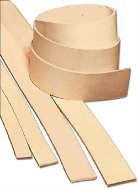 "1-1/4"" x 72"" Natural Heavyweight Cowhide Leather Strip"
