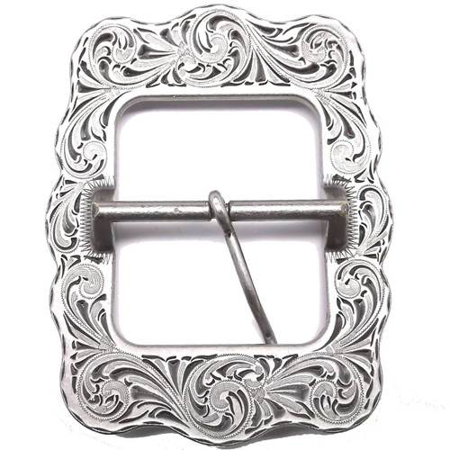 Sunburst Flower Buckle Antique back