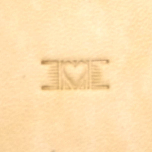 """Basketweave Heart Stamp Tool PX005 Size 7/16"""" L (11 mm) Hide Crafter"""