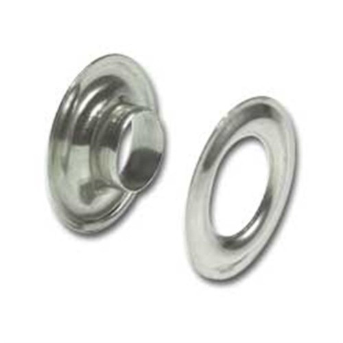 "Nickel on Solid Brass Grommets #2 3/8"" 10 Pack 1283-02"