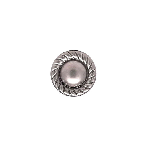 """Nail Head Spots Solid Brass Antique Nickel Plated Rope Edge 3/8"""" Diameter 100 pk NH20895AN"""
