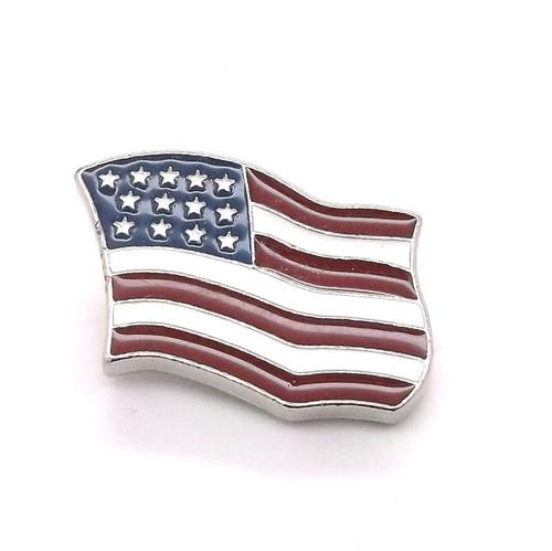 Flag Screwback Concho