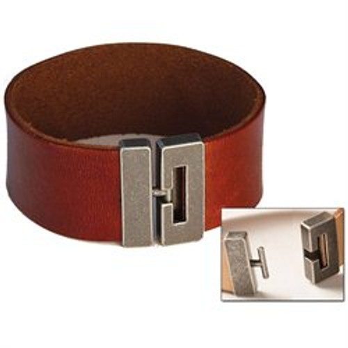 "Tandy Leather Bracelet Connector 5/8"" (16 mm) Antique Nickel Finish 7001-01 by Stecksstore"