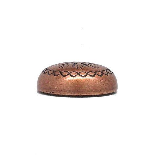 "Sunburst 3/4"" x 1/4"" Copper Plated Screwback Concho 2996C Stecksstore"