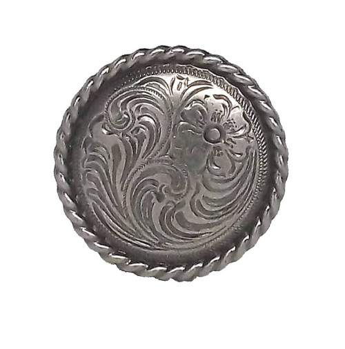 "Flower 1-1/2"" Antique Nickel Rope Edge Screwback Concho 1787AN by Stecksstore"