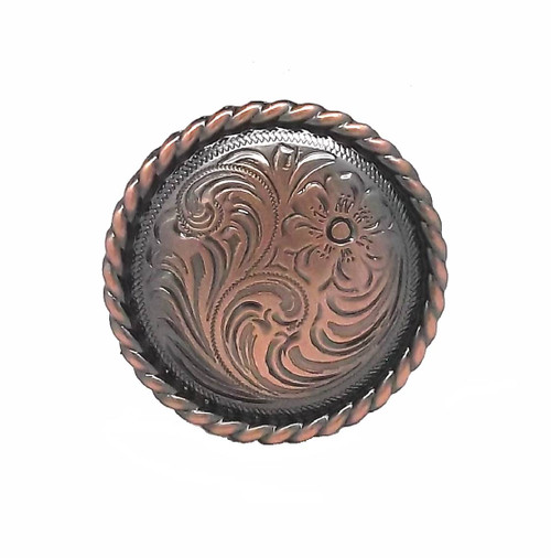 "Rose Flower Copper Plated Screwback Concho 1.5"" (3.81 cm) 1787C by Stecksstore"