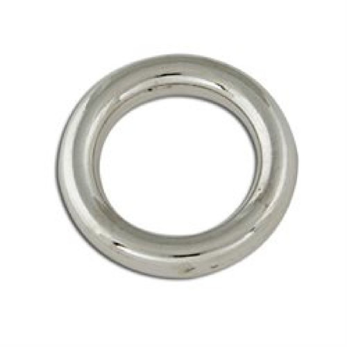 """Decorative Solid Rings 5/8"""" (16mm) Nickel Plated 4/pk 1178-03"""