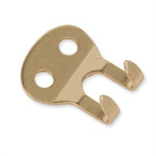 2-Prong Strap Hook Solid Brass 1233-00