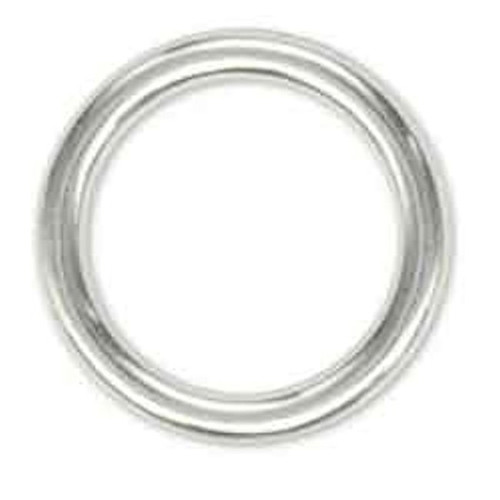 "Solid Ring 1"" Nickel Plated"
