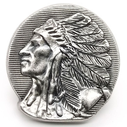 "Left Facing Chief Head Concho Antique Nickel 1-1/2"" 3667-21 by Stecksstore"