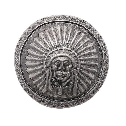 "Southwest Chief Antique Nickel Concho Screwback 1.25"" 7580-21"