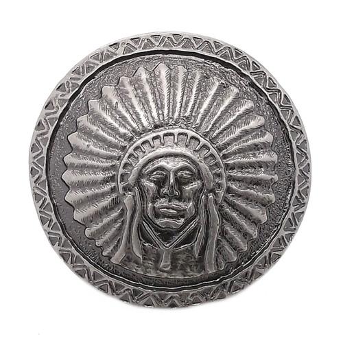 "Southwest Chief Antique Nickel Concho Screwback 1.5"" 7581-21"