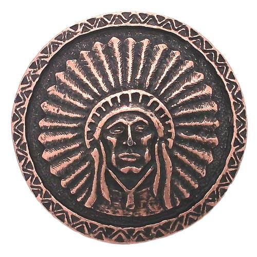 "Southwest Chief Antique Copper Concho Screwback 1.75"" 7582-10"