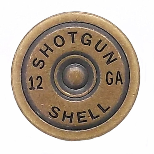 Shotgun Shell Line 24 Snap Cap Antique Brass 7/8""