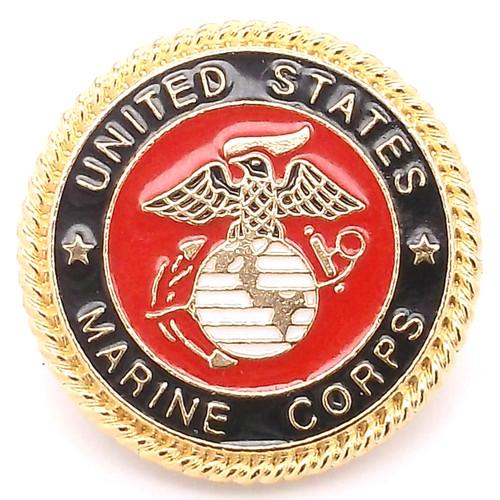 Marines Emblem Rose Gold Line 24 Snap Cap