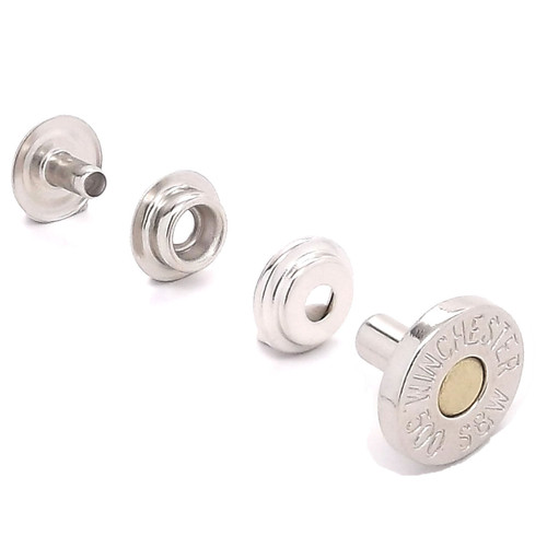 Winchester Shell Line 24 Snap Cap Nickel and Brass Set