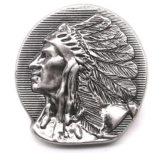 Chief Left Facing Antique Nickel Line 24 Snap Cap