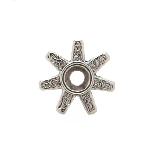 """Spur Bezel Concho in Antique Silver 3/4"""""""