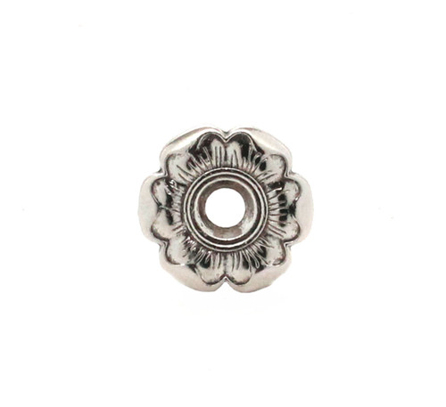 Flower Bezel Concho in Silver and Black Front