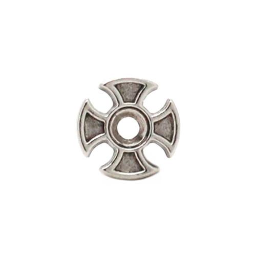 Maltese Cross Bezel Concho Front