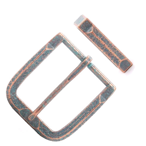 Buckle and Keeper Set Mint Patina Copper