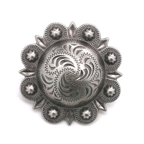 Berry Concho Antique Silver 1""