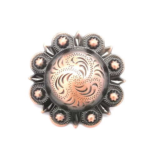 Berry Concho Antique Copper 3/4""