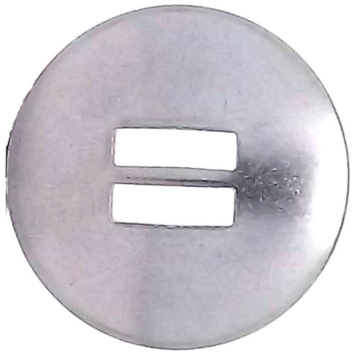 Slotted Concho Stainless Steel Smooth 1-1/2""