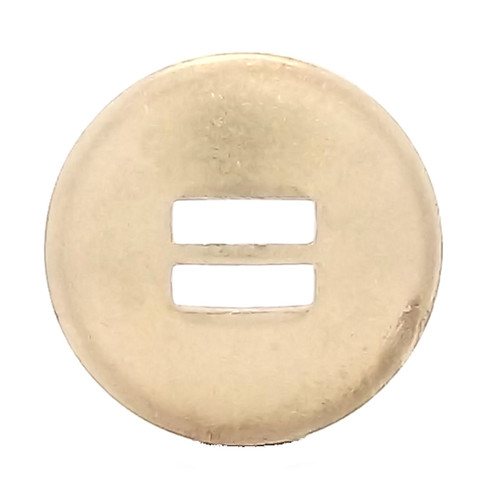 Slotted Concho Brass Smooth 1-1/4""