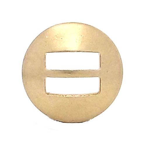 Slotted Concho Brass Smooth 1""