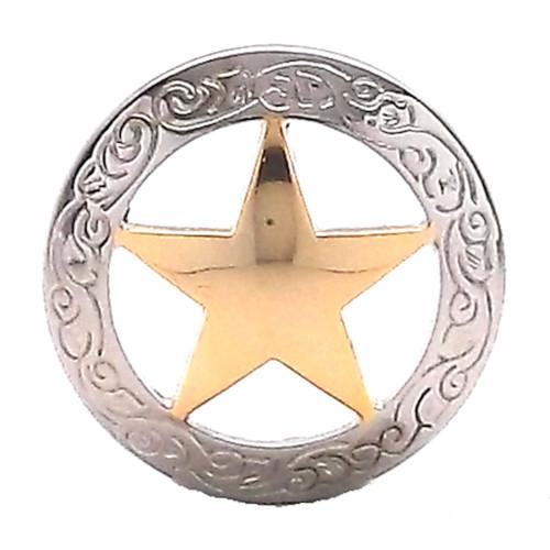 "Texas Star Screwback Concho 1"""