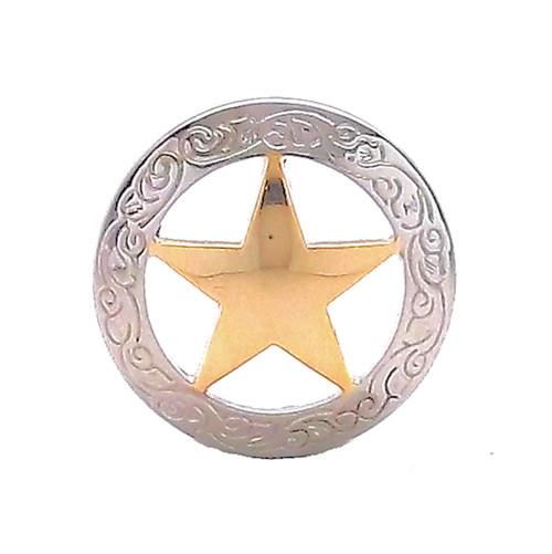 "Texas Star Screwback Concho 3/4"""