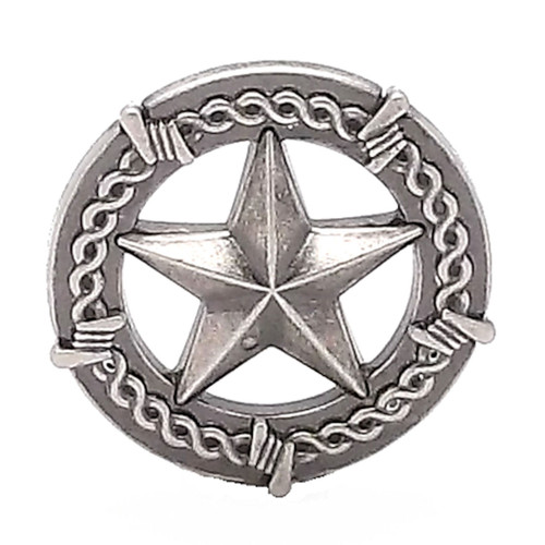 Star And Barbwire Screwback Concho 1""