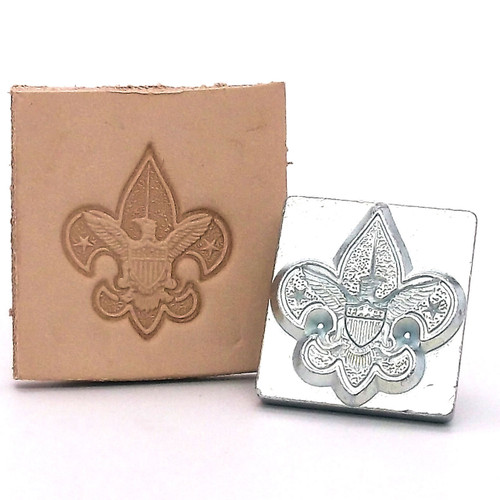 Boy Scout Emblem Leather Stamping Tool with Stamp