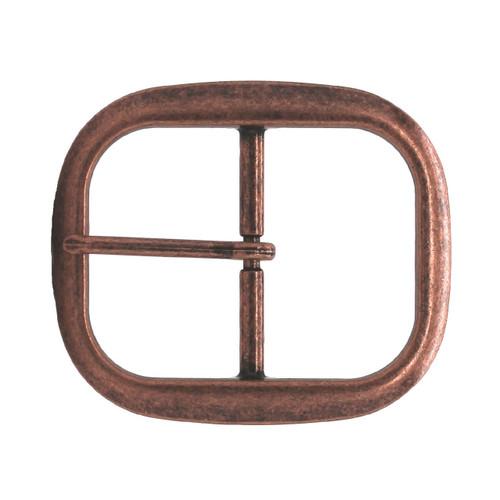 "Antique Copper Center Bar Belt Buckle 1-1/4"""