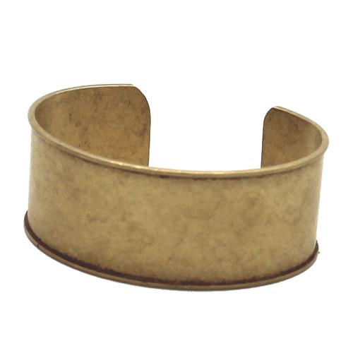 """Barcelete Blank Cuff 1"""" Flexible Brass Left"""