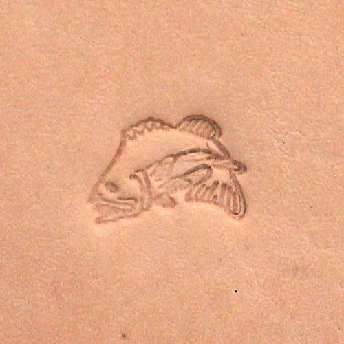 Jumping Colorado Fish Leather Craft Stamp
