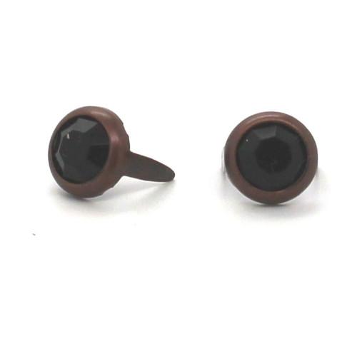 Black Stone Rhinestone Copper Plated