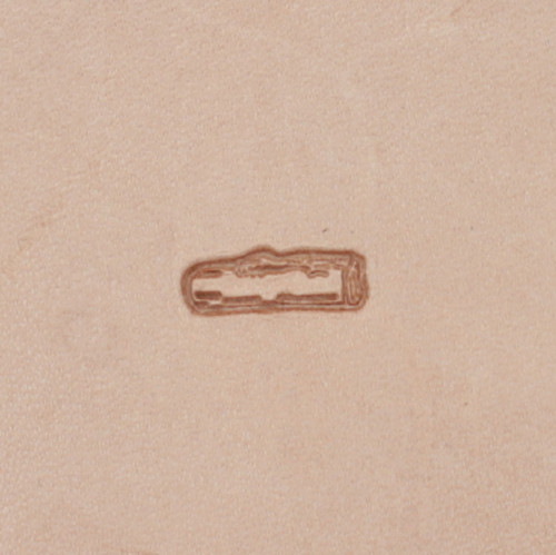 Camping Log Leather Craft Stamp F116
