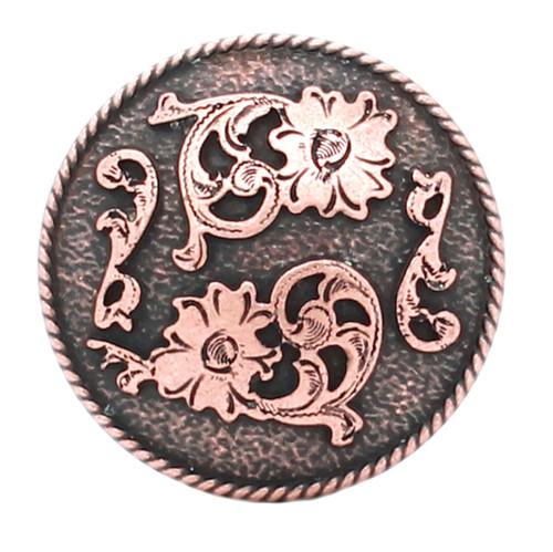 Dual Cactus Flower Antique Copper
