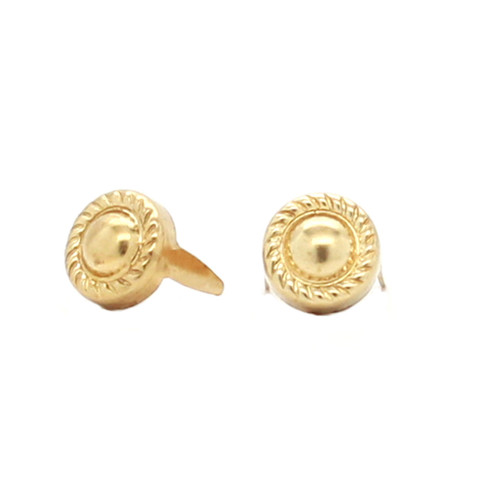 """Rope Edge Brass Nail Head Spots 5/16"""" 100 Pack"""
