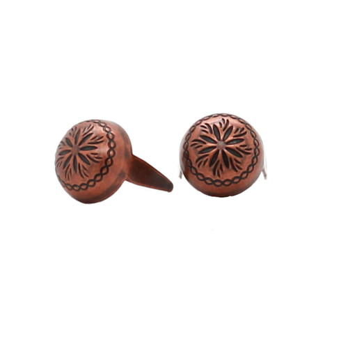 "Antique Copper Sunburst 3/8"" Diameter Spots 100 pk"