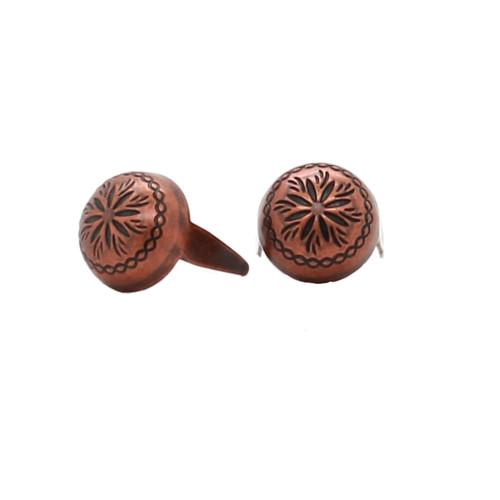 "Antique Copper Sunburst 3/8"" Diameter Spots 100 pk"