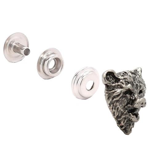 """Bear Head Antique Nickel Decorative Line 24 Snap Cap 1""""1265-991"""