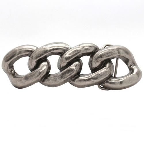 Chain Link Metal Belt Buckle Antique Nickel 6009-21 USA