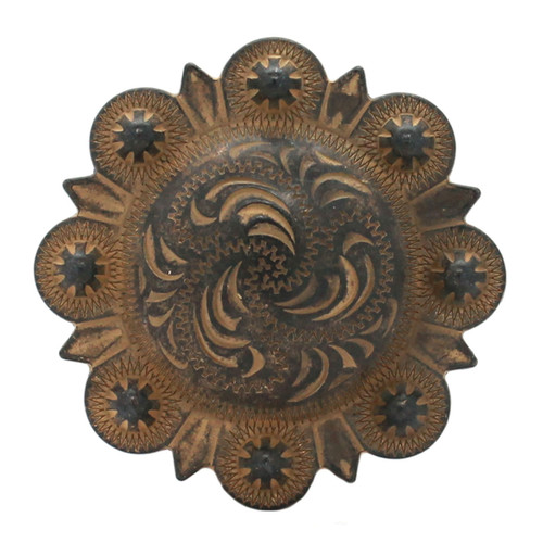 Berry Concho Rustic Gold Screw Back 1.25""