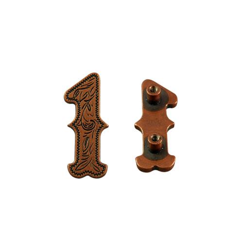 Number 1 Screwback Concho in Antique Copper 1339-283
