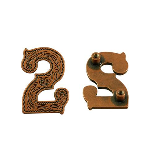 Number 2 Screwback Concho in Antique Copper 1339-293