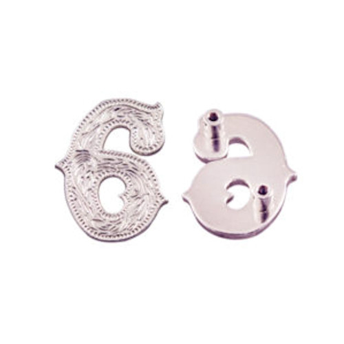 Number 6 Screw Back Concho in Silver